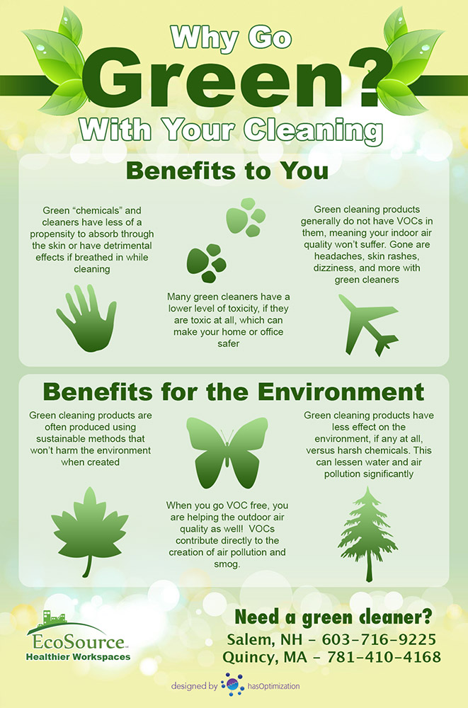 Why Go Green With Your Cleaning Infographic